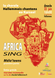 Affiche du spectacle Africa Sing